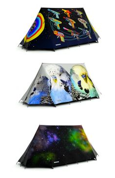 FieldCandy tents do not give you camouflage protection in the natural setting, nor do they help you blend in with the rest of the crod at the campsite.  FiledCandy tents are designed to stand out...or in this case Outstanding!