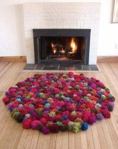 Amazing pom pom rug