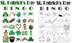 St. Patrick's Day Bingo Cards (Kindergarten Centers)