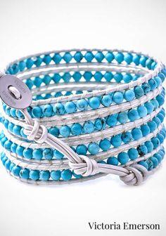 Leather Wrap Bracelet: Victoria Emerson