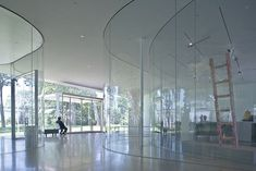 Glass Pavilion   Toledo Museum of Art  ~SANAA    (redefining poche, 'thinness of architecture')