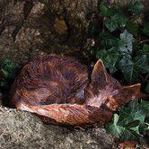 Found it at Wayfair - Forest Friends Sleeping Fox Statue