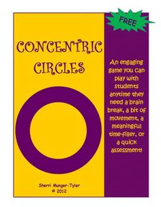 """""""Concentric Circles"""" is an engaging game you can play anytime students need a brain break, a bit of movement, a meaningful time-filler, or a quick academic assessment. This is a perfect activity to incorporate think-pair-share with movement for those kinesthetic learners! Circle up any time you want to review content, have students re-teach concepts to one another, move concepts from short-term memory to long-term memory, or summarize a reading assignment. FREE!"""