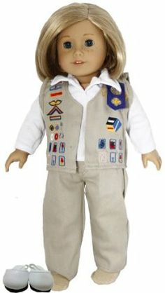 Cadet Girl Scout Doll Clothes for 18 Inch Dolls and American Girl Dolls INCLUDES CLOGS !!!! by The Wishlist Store. $17.90. Cadet Khaki Girl Scout Uniform for American Girl Doll and 18 Inch Dolls.. Cadet Uniform includes Khaki Vest, Pants, White Shirt and Socks.. Save 28%!