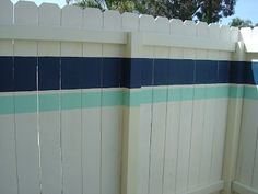 painted fences, paint fenc, california livin, privacy fences, diy outdoor, painting fence, fenc idea, stripe, outdoor projects