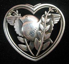 Georg Jensen Heart Pin