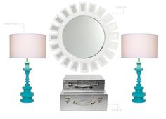 Amazing Turquoise and White Decor by Z Gallerie