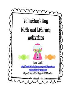 valentines math and literacy activities