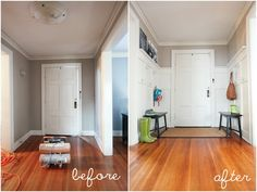 entry way re-do for just $85... WOW!