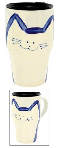 Cafe Kitty Travel Mug at The Hunger Site