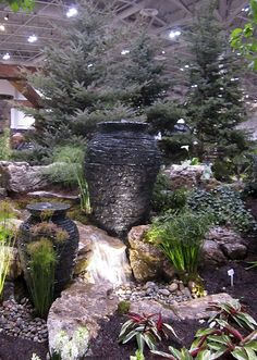 "Genoscape's ""Magicool"" water features at Canada Blooms 2013"