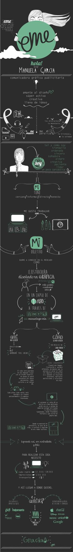 About Me / Personal Brand  by Manuela García Aristizabal, via Behance