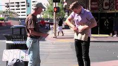Man rips up homeless vet's sign before really shocking him