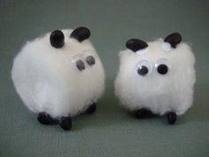 Little Boy Blue.  Cotton ball sheep for Nursery Rhyme unit.