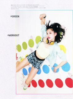 NYLON Japan featured the #AmericanApparel Knit Bralette on Kiko Mizuhara, June 2014.