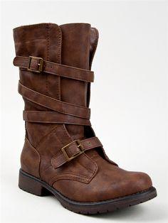 Madden Girl RASZCAL Mid Calf Combat Boots