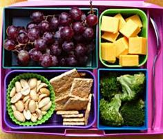 I Love this idea!  Huge selection of Bento Box lunch ideas - very healthy!!!