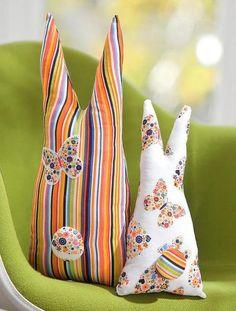 Яркие подушки-зайки к пасхе - Ярмарка Мастеров - ручная работа, handmade