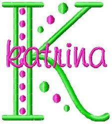 Free Monogram Letters | Trendy Machine Embroidery Fonts at Kaboodle
