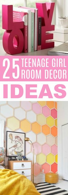 I love creating DIY's for my bedroom because I can save so much  money while still getting the look that I want with a handmade touch! Plus, it  can be a lot of fun. I hope you enjoy these 25 Teen Girl Room Decor Ideas. #homedecor #diyhomedecor #diyhomedecorideas #homedecorideas  #diyhomedecorprojects #homedecorprojects #homedecordiy #doityourselfhomedecor  #easyhomedecorideas #funhomedecorideas