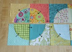 Tutorial for running in circles quilt
