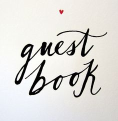 beautiful calligraphy guest book