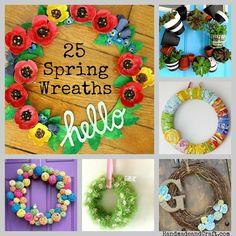 25 Spring Wreaths {DIY Decor}...time to get ready! :) #wreath #spring #diy