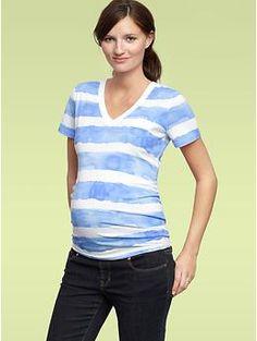 $7.99 Watercolor stripe pocket T | Gap