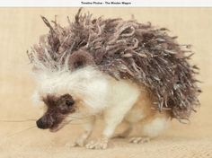 Hedgehog by Megan Nedds at The Woolen Wagon