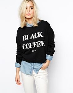black coffee sweater