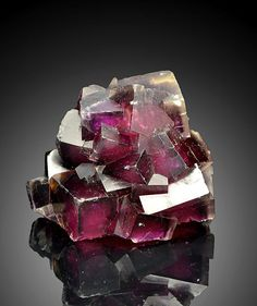 Zoned pink, orange and purple Fluorite with phantoms - Namibia