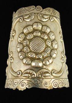 Monumental Mexican Repousse CUFF BRACELET