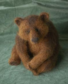 needle felted bear, teddy bears craft, teddy bear crafts, teddi bear, sit bear, felt bear, awesom bear, grizzly bears