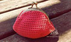 Monedero vintage crochet patrón gratis colores dorado