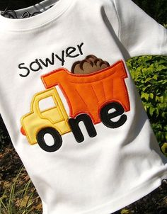 Appliqued Boys 1st Birthday Dump Truck Tee by lilshabebe on Etsy, $19.95