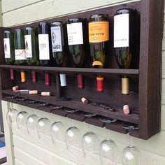 Reclaimed wood wine rack - love it!!