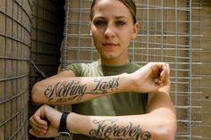 Marine Corps Tattoos: Corps Tattoos For Women Nothing Lasts Forever ~ tattoosartdesigns.com Tattoo Ideas Inspiration