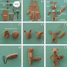 craft estudio: Haz una Ardilla con un guante Make a squirrel out of a glove.