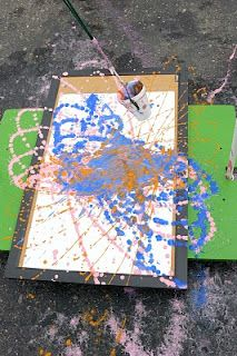 Pendulum painting!!!! SCIENCE + ART! (HUGE, massive linky with TONS of ideas for painting!!!!)