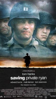 Saving Private Ryan - Tom Hanks - Tom Sizemore - Edward Burns - Barry Pepper -  Adam Goldberg - Mat Damon - 1998