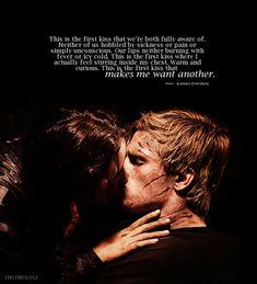 a kiss, games, the hunger, josh hutcherson, first kiss, catching fire, hunger game, book, quot