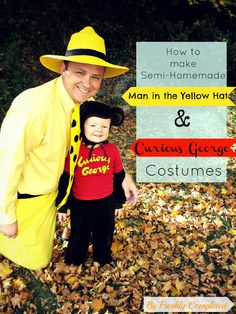 Freshly Completed: Semi-Homemade Man in the Yellow Hat & Curious George Costumes