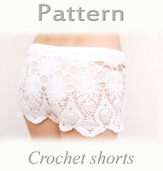 PATTERN Crochet beach shorts in cotton  PDF crochet shorts Kate Hudson