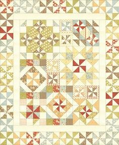 2012 Pinwheel Crazies - Free BOM Pattern - CupcakeQuilter.  all of the parts are posted. :)