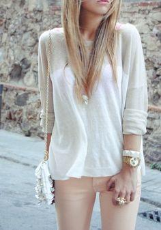 Ivory + blush.