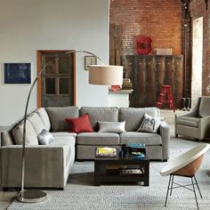 I'm pinning a lot of West Elm-- I guess I like the lines of their pieces.