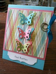 birthday card, butterfli die, craft, card sampl, butterflies, card class, class idea, april card, coupon