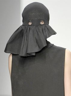 csm ma, abnorm, face, detail, fashion, anonym, aw 12, mask, hat