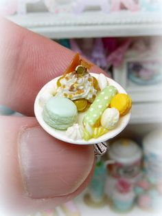 Miniature food - French pastries