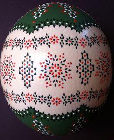 Sorbische Ostereier - Straußenei / Sorbian Easter Eggs - Ostrich Egg beauti egg, ukranian egg, easter eggs, decor egg